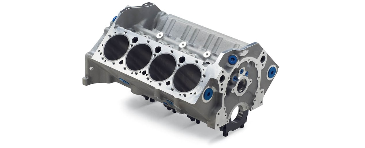 Chevrolet Performance Small-Block 400 Aluminum Race Engine Block Top Front View