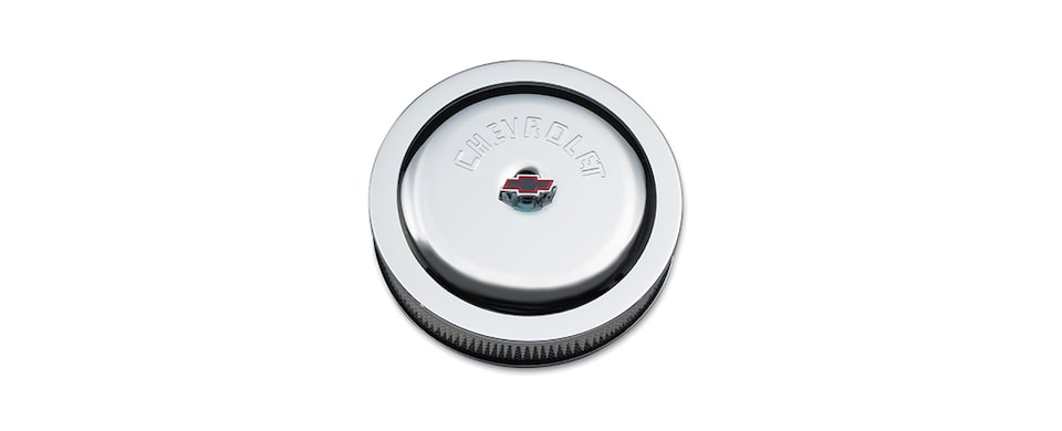 Chevrolet Performance Small Block Chevrolet Logo High-Performance Air Cleaner Part No. 12342080