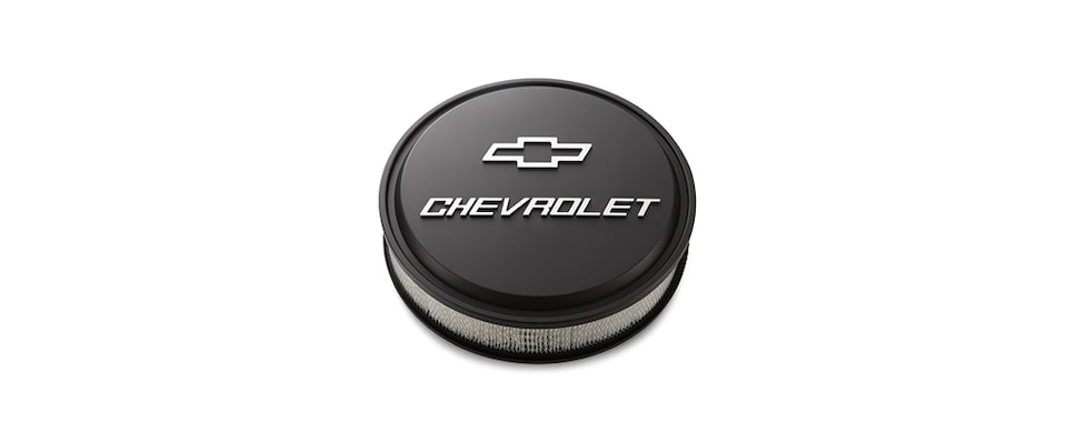 Chevrolet Performance Small Block Low-Profile Bowtie Chevrolet Design Air Cleaner Part No. 19351805
