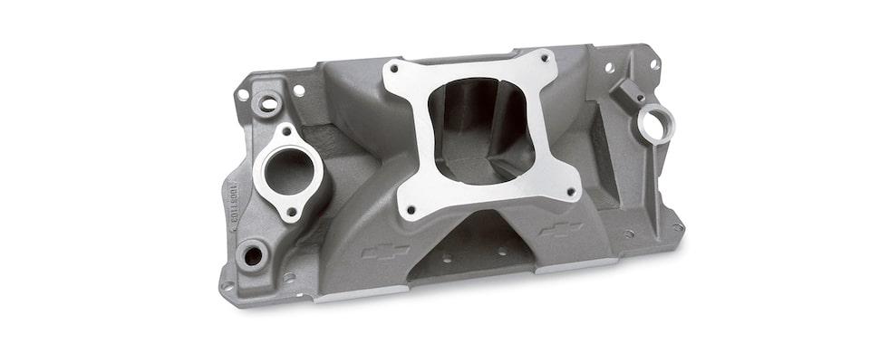 Chevrolet Performance Small-Block Bowtie Intake Manifold With Raised Runner Part No. 10051102