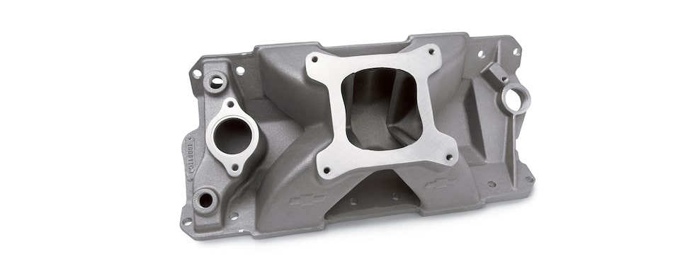Chevrolet Performance Small-Block Bowtie Intake Manifold With Raised Runner Part No. 10051103