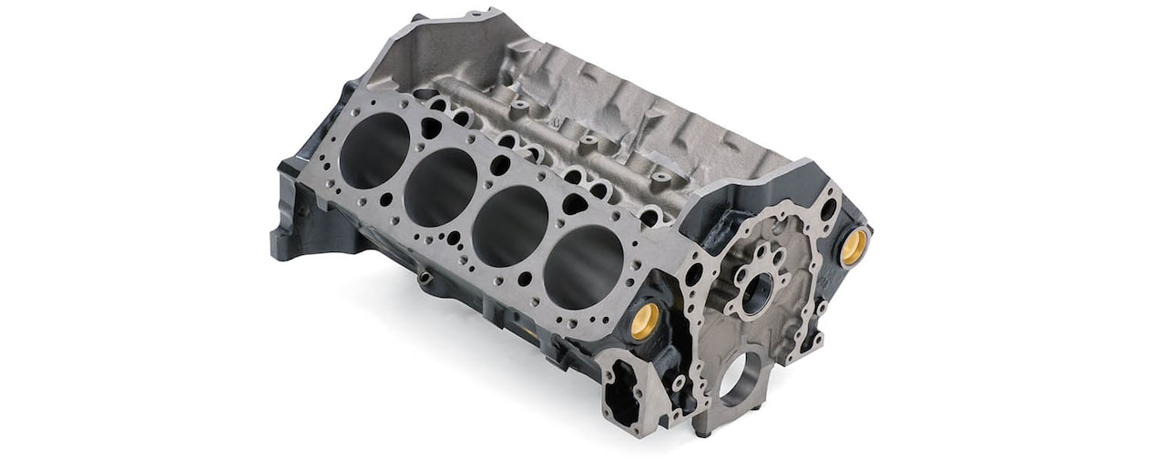 Chevrolet Performance Small-Block 305 V-8 Production Engine Block Top Front View