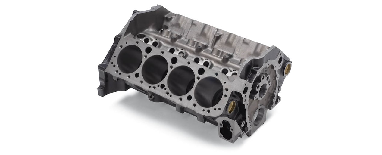 Chevrolet Performance Small-Block Production-Based Engine Block Top Front View