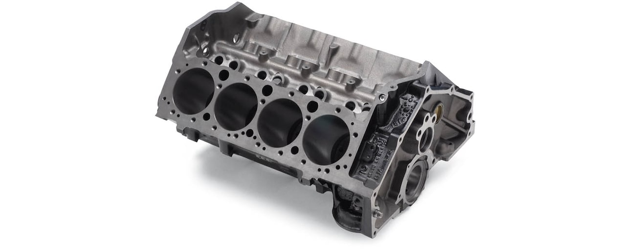 Chevrolet Performance Small-Block Production-Based Engine Block Top Rear View