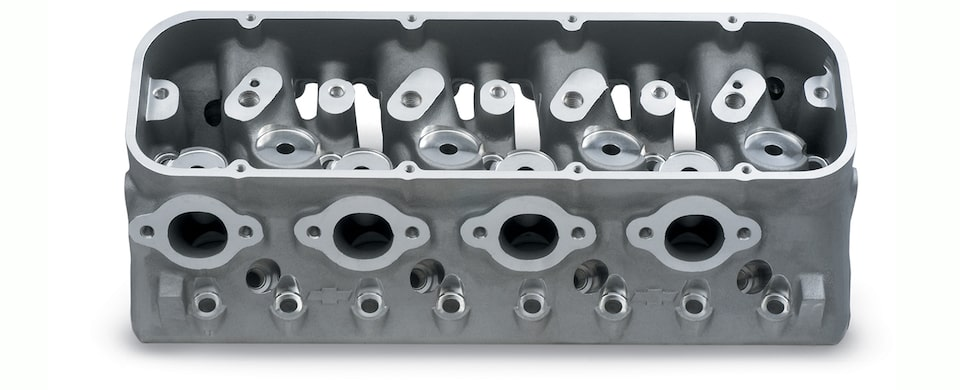 Chevy Performance Splayed-Valve Cylinder Head Assembly