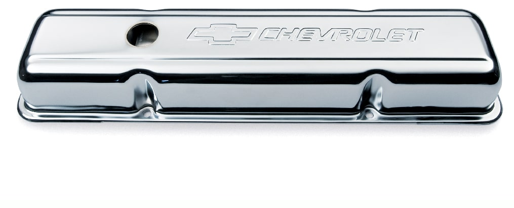 Chevrolet Performance Small-Block Chrome Short Valve Covers Part No. 12341670