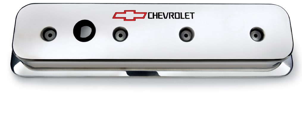 Chevrolet Performance Small-Block Center Bolt Polished Aluminum Valve Covers Part No. 12497978