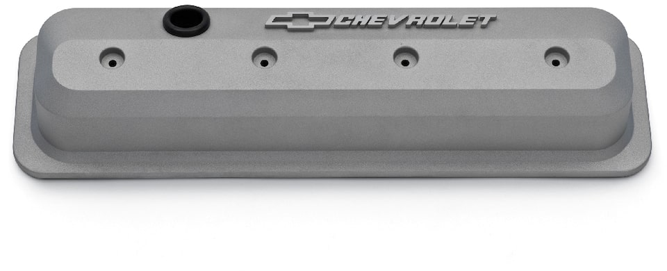 Chevrolet Performance Small-Block Natural Gray Slant-Edge Valve Covers Part No. 19351803