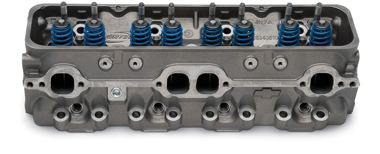 Small-Block Vortec Bowtie Cylinder Head Detail