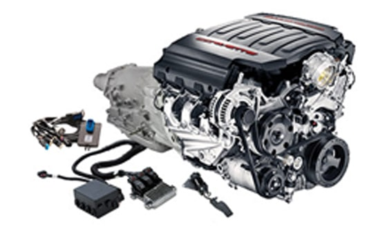 LT1 Wet Sump 6 2L Engine with 8L90-E Transmission