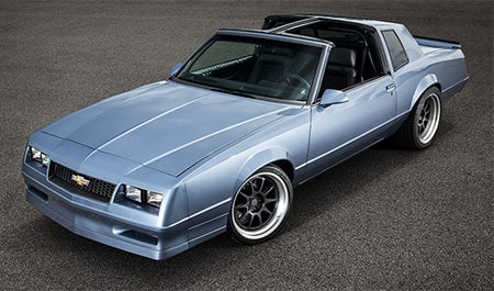 1988 Monte Carlo SS reborn with a modern Chevrolet Performance crate engine and transmission.