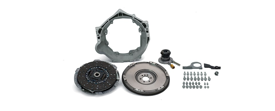 Chevrolet Performance TREMEC T56 Super Magnum Transmission Installation Kit For LS Engines With 6-Bolt Flange Part No. 19301625