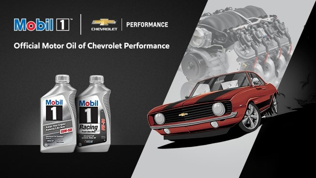chevy-performance-mobil1-motor-oil-support-tile