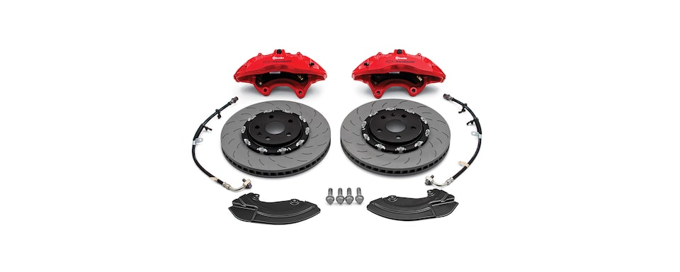 Gen6 Chevy Camaro Brembo Performance Front Brake Package six-piston