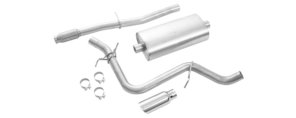 Chevrolet Performance Silverado 5.3L Cat-Back Single Exit Exhaust System With Tip Vehicle Upgrade Part No. 84173601