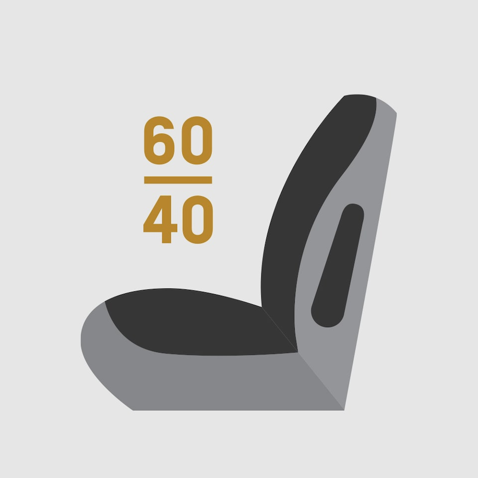60/40 Split Folding Seats Icon