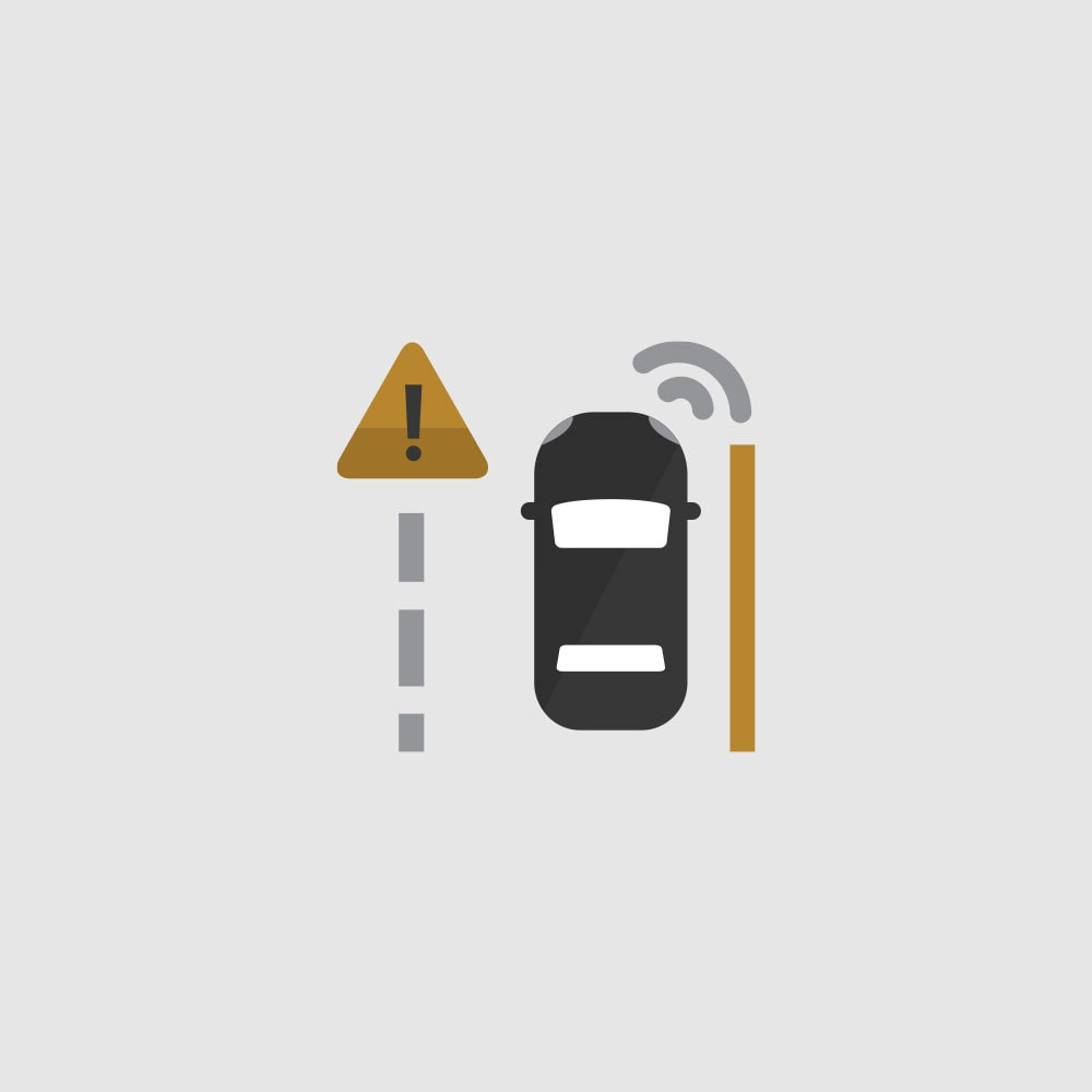 Lane Keep Assist with Lane Departure Warning Icon