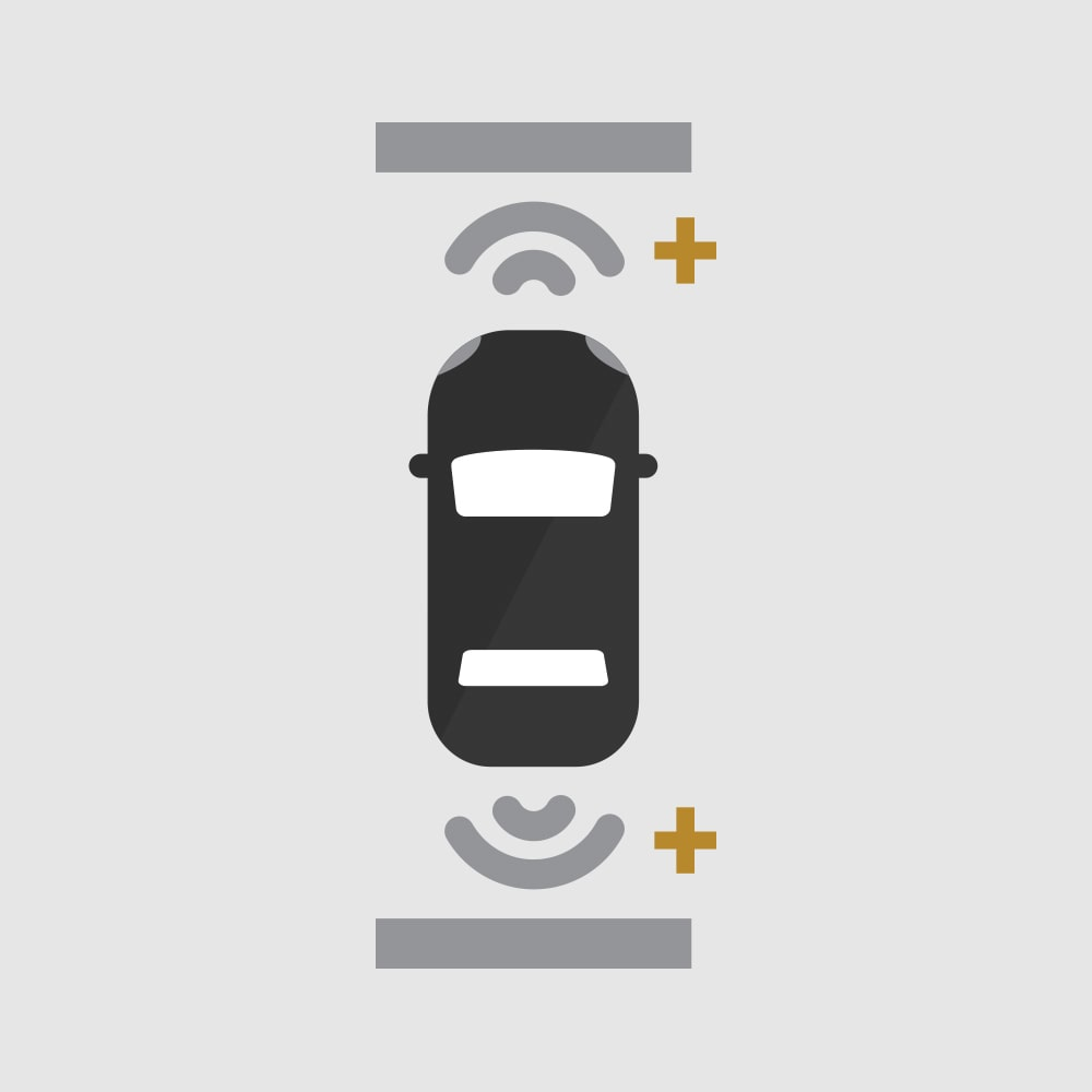 Front and Rear Park Assist Icon
