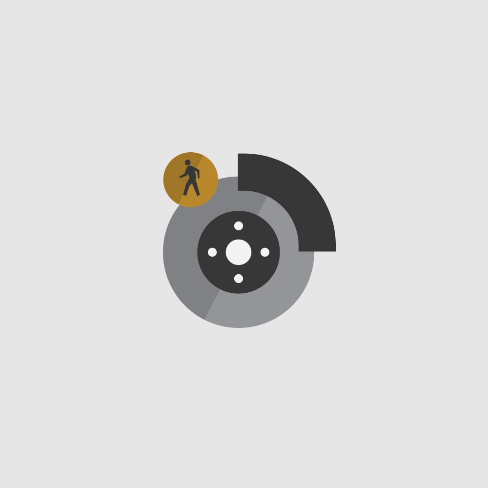 Front Pedestrian Breaking Icon