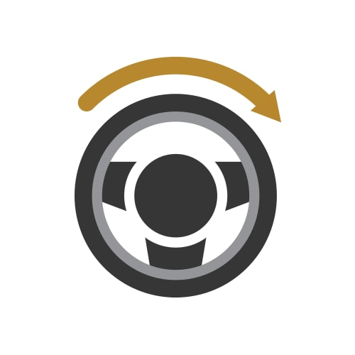Turning Radius Icon