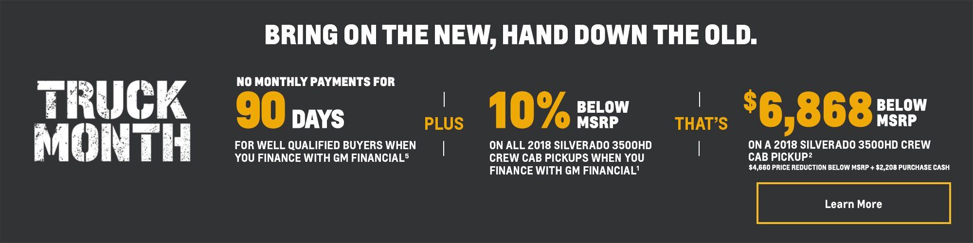 Truck Month Offers: Silverado 3500HD Pickups - 10% Below MSRP