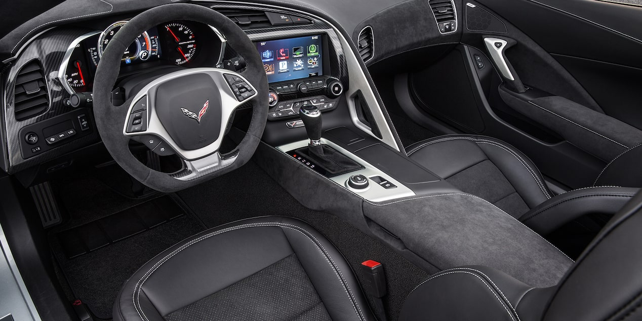 Corvette Special Editions Jet Black Suede Design Package: interior