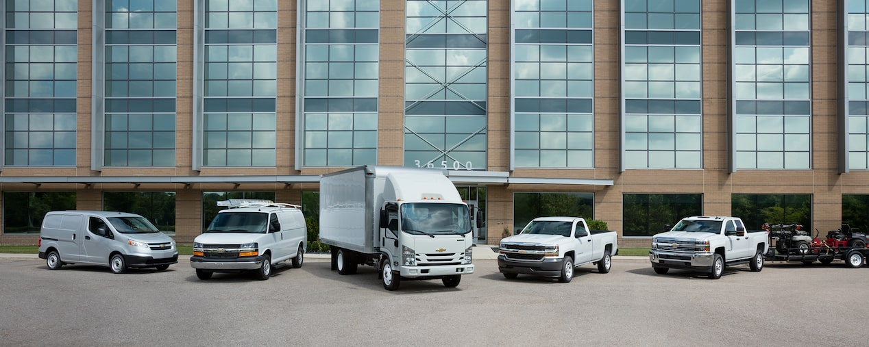 Chevy Fleet Trucks, Cars, SUVs, Vans and Commercial Vehicles