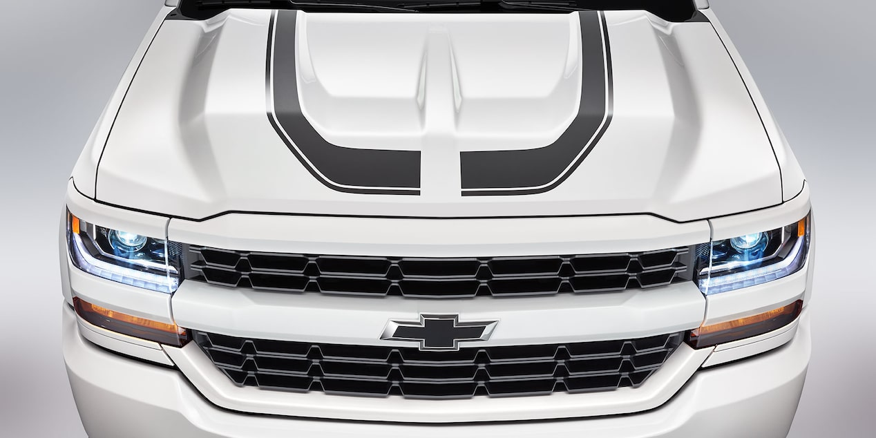 Chevy Silverado Special Editions: Rally 1 hood
