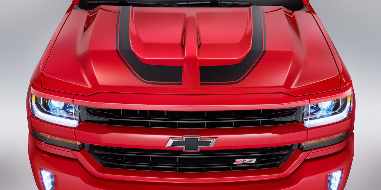 Chevy Silverado Special Editions: Rally 2 hood