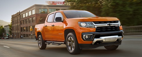 2021 Chevrolet Colorado Mid-Size Truck Towing Boat