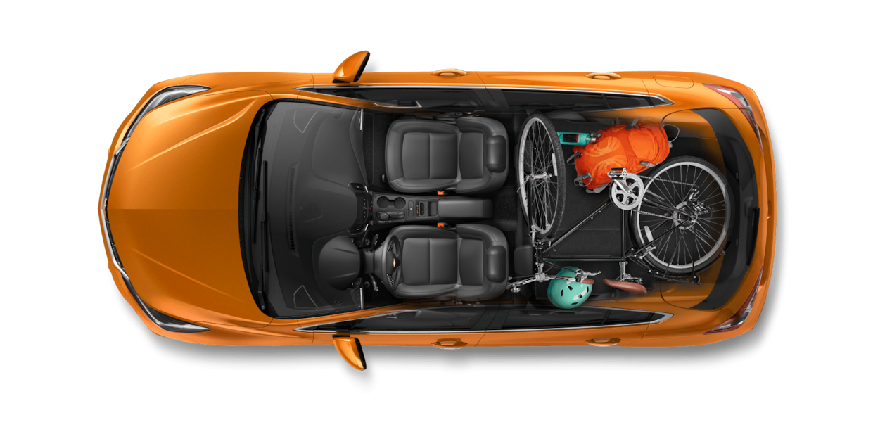 2017 Cruze Hatchback Cargo Design: Cyclist