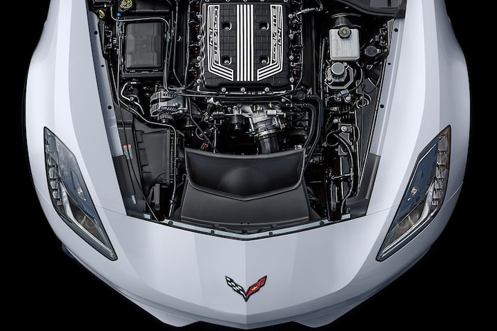 Corvette Engines: LT4 Supercharger top view
