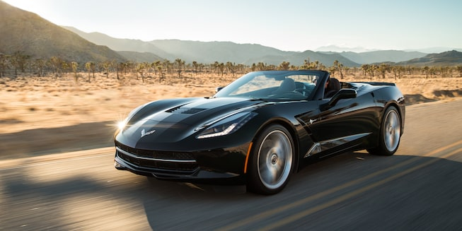 2017 Corvette Stingray Exterior Photo: Jet Black Suede