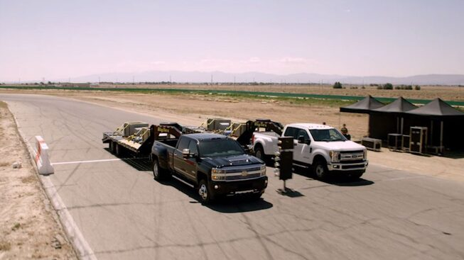 Silverado Films: Howie Long Drag Races the Silverado HD vs Ford Super Duty