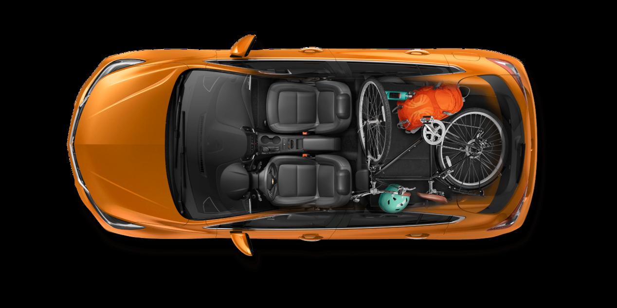 2018 Cruze Hatchback Cargo Design Cyclist