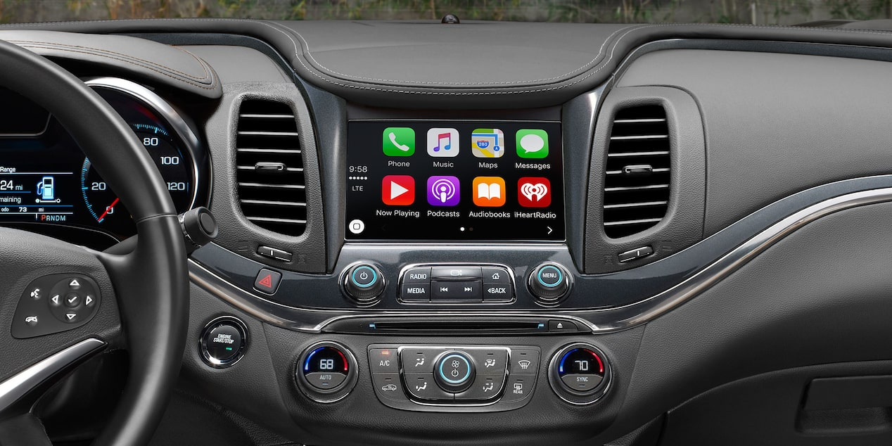 Chevrolet impala full size car technology apple carplay