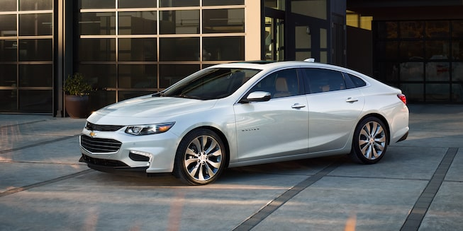 2018 Chevrolet Malibu Mid Size Car Exterior Photo: side profile 1