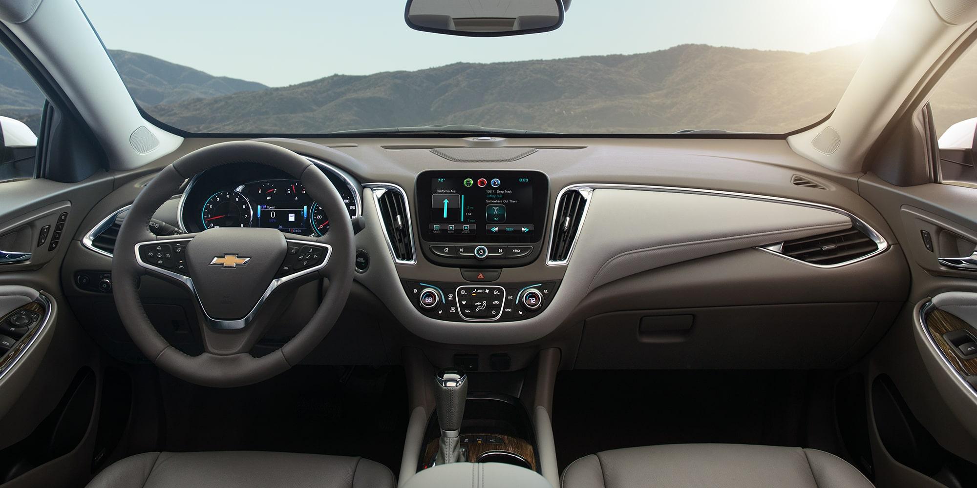 2018 Chevrolet Malibu Mid Size Car Interior Photo: Front Seats