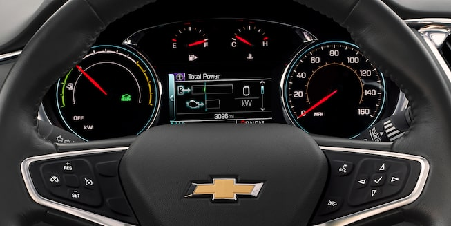 2018 Chevrolet Malibu Hybrid Car: Driver Efficiency Gauge