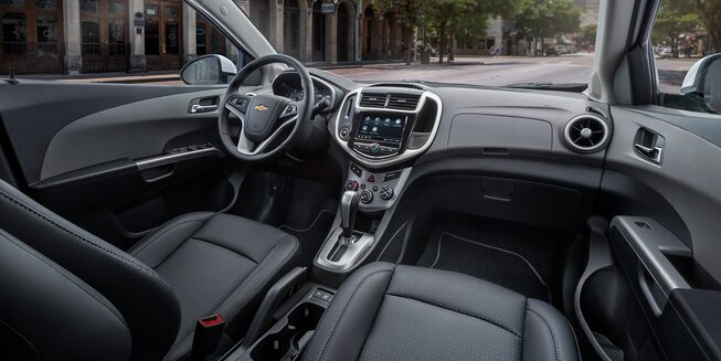 Chevrolet 2018 Sonic Compact Car Interior Photo: front seats