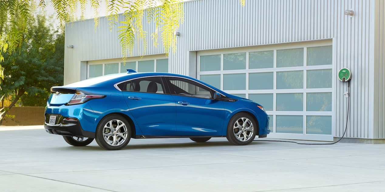 2018 Volt Plug-In Hybrid Charging: rear side view