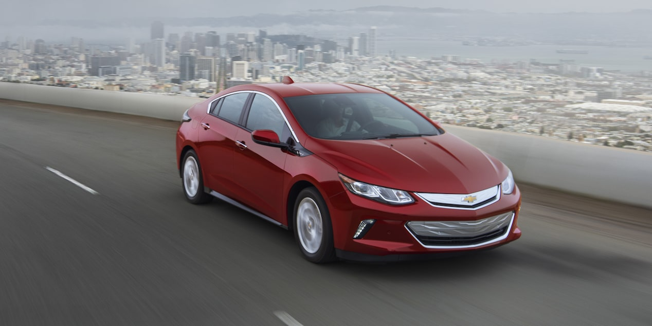 2018 Volt Plug-In Hybrid Performance: front side view