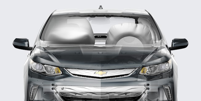 2018 Volt Plug-In Hybrid Safety: 10 air bags