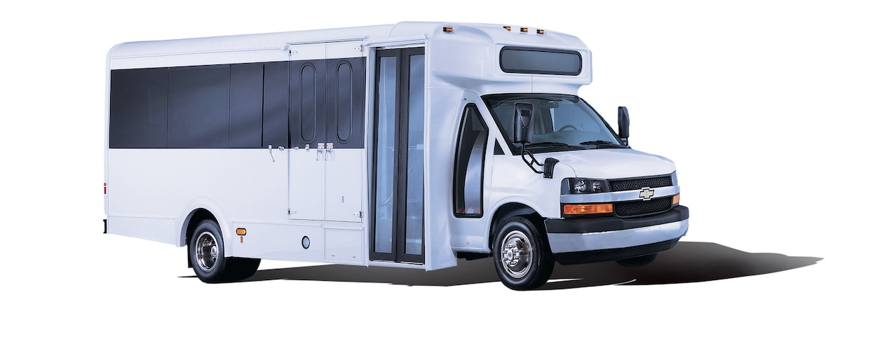 2018 Chevrolet Express Cutaway: Shown with shuttle upfit