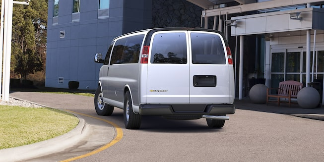 2018 Express Passenger Van on road