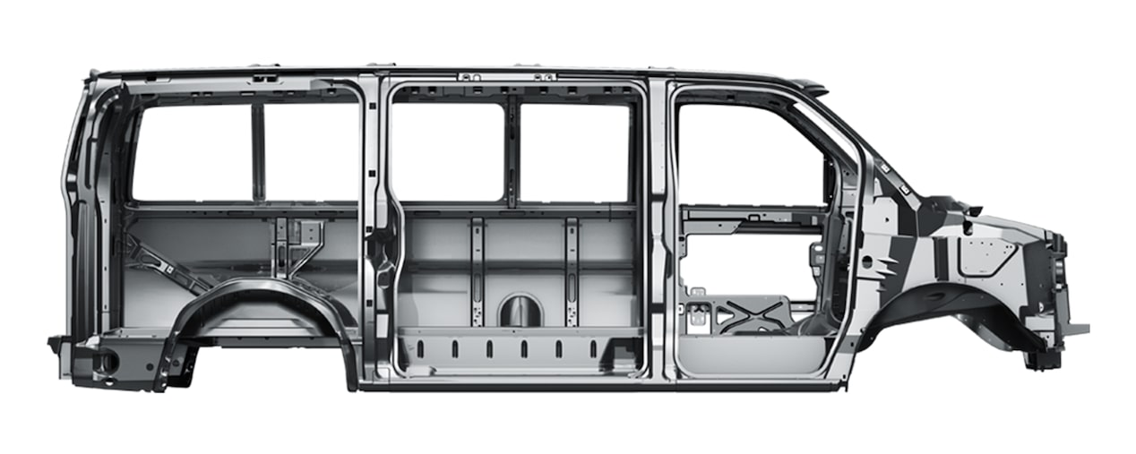 Frame of the 2018 Express Passenger Van