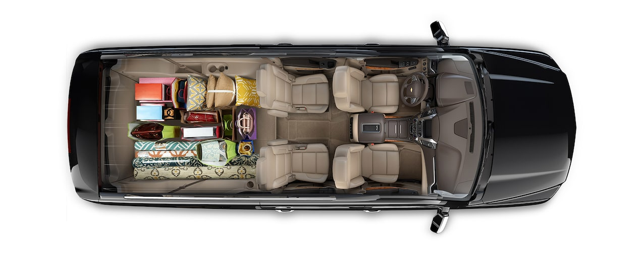 2018 Suburban SUV Design: interior cargo- shopping trip