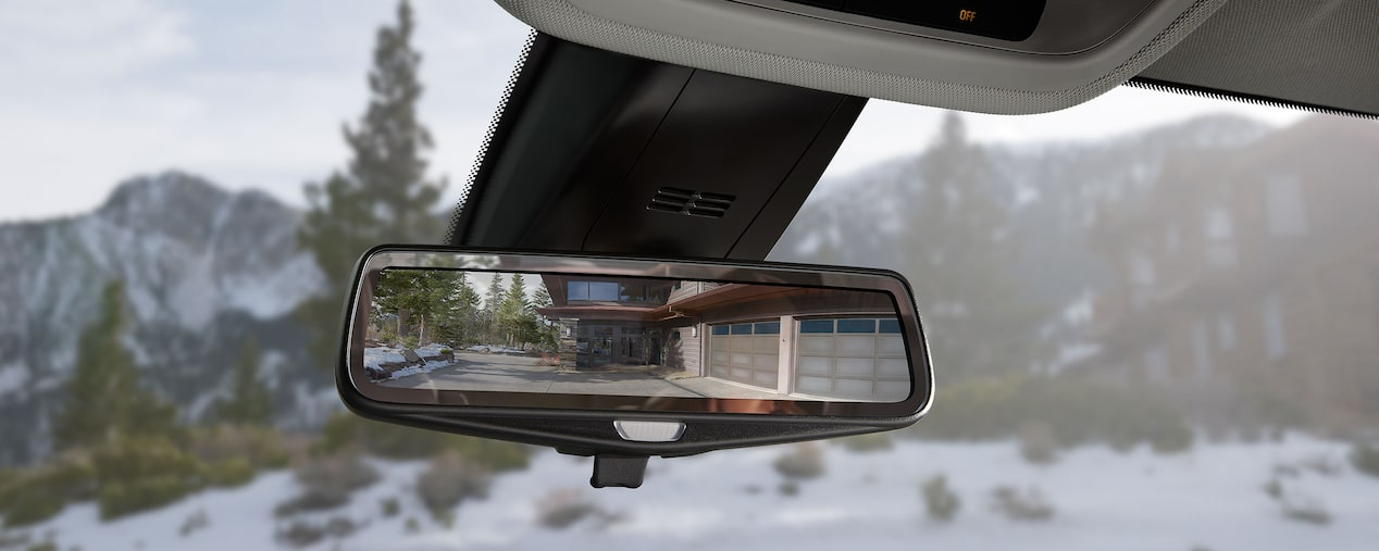 All New 2018 Traverse Safety: rear view mirror 1