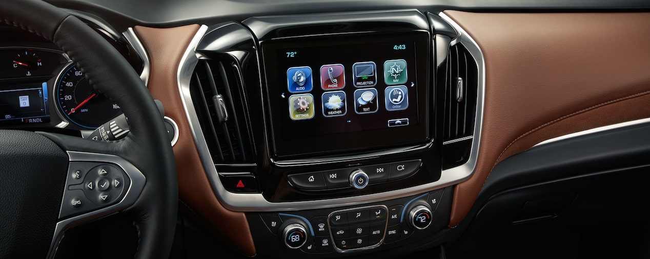2018 Traverse Midsize SUV Technology: Android Auto Display