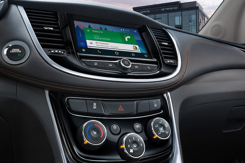 2018 Trax Small SUV Design: interior touch-screen